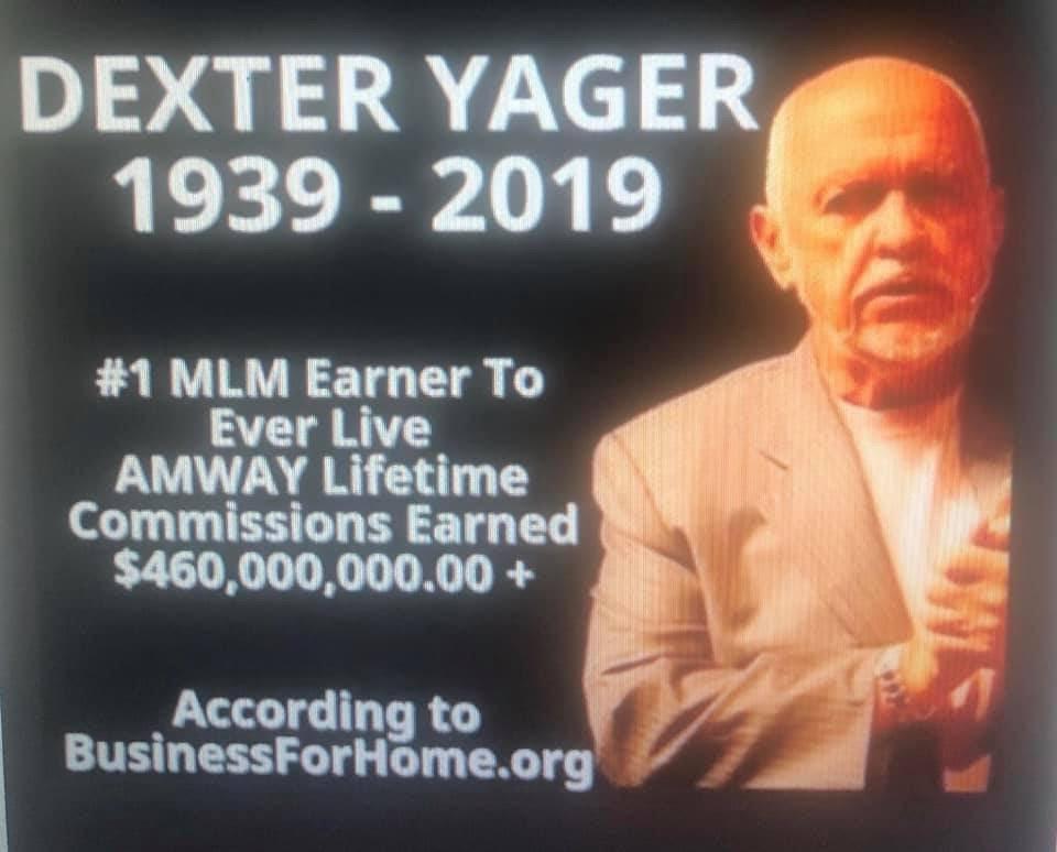 Dexter udávaný celoživotní MLM příjem