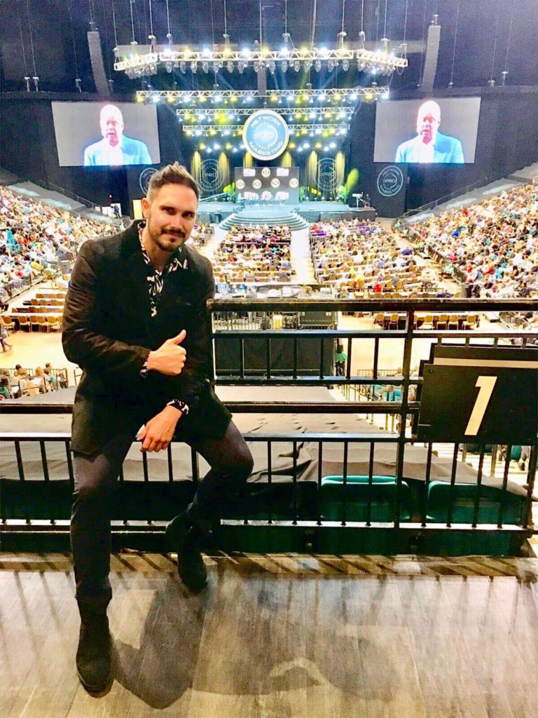 Michal Karmazín na GoPro 2018 od Eric Worre v Las Vegas